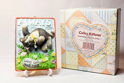 Calico Kittens: Always Land On Your Feet - 642371 - 1 of 3 Plaques - Grey Kitten