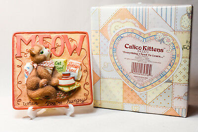 Calico Kittens: Meow When You're Hungry - 642371 - 2 of 3 Plaques - Brown Tabby