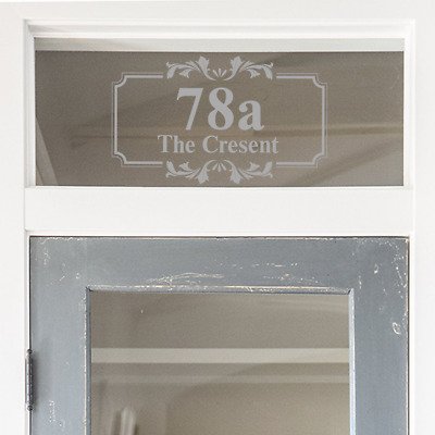 Glass Fanlight Door Number Frosted Glass House Number Victorian Etched Glass