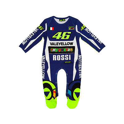 Valentino Rossi VR46 Moto GP Blue Baby Grow Overall Official 2018