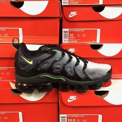 Nike Air Vapormax Plus Black Volt 924453-009 New Men Size: 8-13