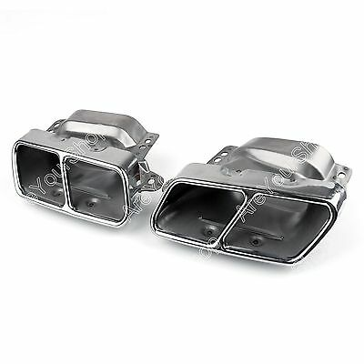 Square Tail Exhaust Pipe Muffler For Benz S300/600 GL350/400/450 Double Hole B2