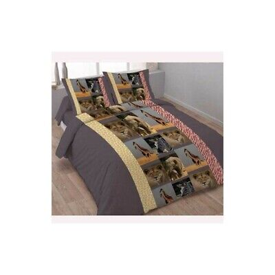 Housse de couette  240 x 220+2 Taies SAFARI ANIMAL Coton