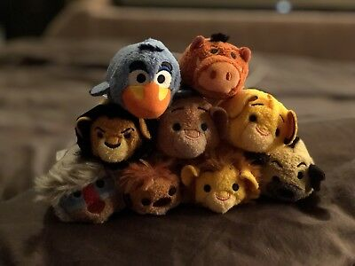 Disney Store Lion King Tsum Tsum Full Complete 9 Set with Tags