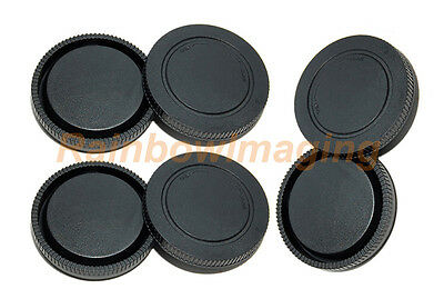 Lens Rear Caps and Body Cap for Sony NEX-5R NEX-5T a6000 a5100 a5000 a7 x 3 pcs