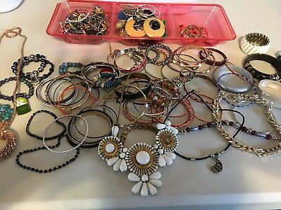 Huge Lot of Vintage costume Jewelry Earrings, necklaces brooches rare nice 10 lb