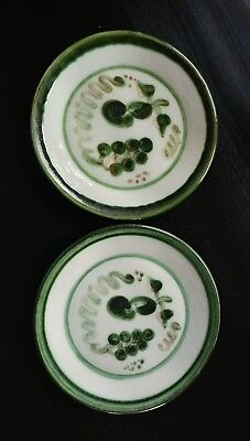 "Set 2 M A Hadley Grape & Pear 11"" Dinner Plates"