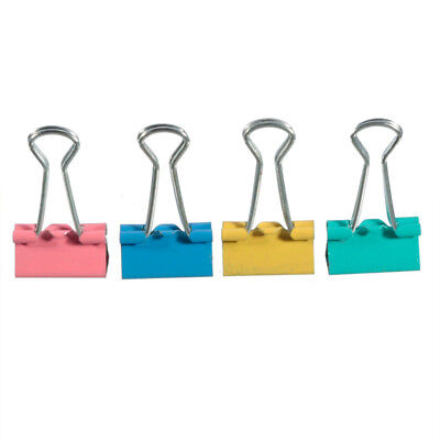 Colorful Classic Paper Holder Office Stationery Document Clips Binder Clips