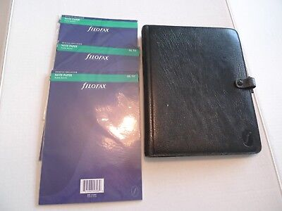 Deskfax By Filofax-Vintage Leather Planner-Dx1 Clf 7/8- With Inserts- Made@uk