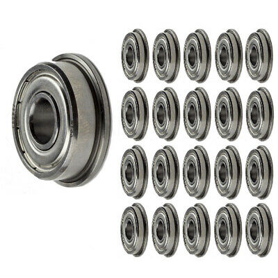 F608-ZZ Flange Ball Bearing Dual Sided Metal Shielded Deep Groove (100PCS)
