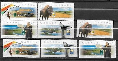 pk34783:Stamps-Canada #1780-1783a Scenic Highways Issues - MNH