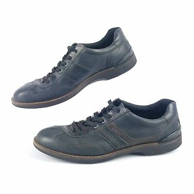 b0e0fc5166c5 ECCO Mens 13 47 Shoes Casual Dress Sport Navy Leather Lace Up Saddle Two  Tone