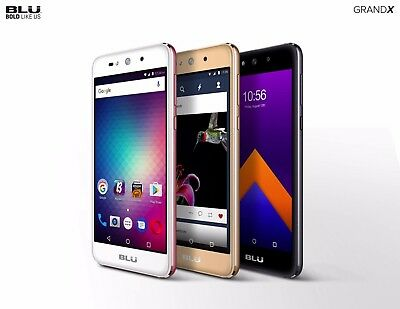 BLU Grand X Unlocked Cell Phone Smartphone Android version 6.0 GSM Dual SIM