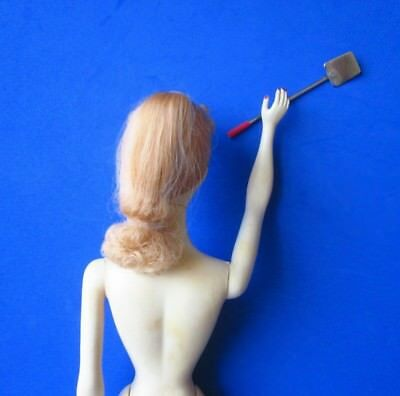 Vintage Metal SPATULA RED HANDLE from APRON and UTENSILS (1962) BARBIE Q (1959)