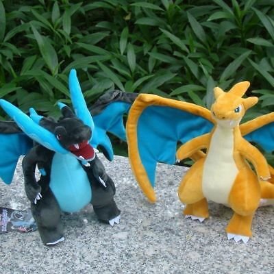 2X Pokemon Center Go Plush Toy Mega Charizard Shiny Stuffed Animal Doll Gift 9""