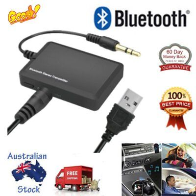 Bluetooth 3.5 A2DP Stereo Audio Adapter Dongle Transmitter For TV Speaker AS