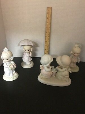 Lot Of 4 Precious Moments Figurines Outdoor Theme Great Condition