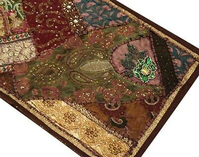 "60"" Classic Art Décor Vintage Sari Beads Sequin Textile Wall Hanging Tapestry"