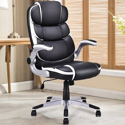 PU Leather High Back Executive Swivel Office Chair Computer Desk New Task