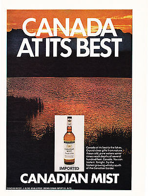 Original Print Ad-1971 CANADIAN MIST IMPORTED CANADIAN WHISKY-CANADA AT ITS BEST