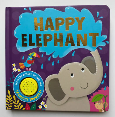 New, Happy Elephant Sound Book, For Children/Kids Age 0 Month+, Birthday Gift!!!