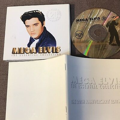 ELVIS PRESLEY ‎Mega Elvis JAPAN 24k GOLD CD BVCP-1401 w/BOOKLET, NO OBI Free S&H