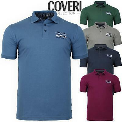 Polo uomo manica corta 100% cotone jersey M L XL XXL COVERI COLLECTION