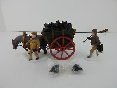 Dept 56 Dickens Village Delivering Coal For The Hearth #58326 Good Condition