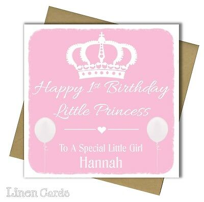 Personalised 1st birthday card girl daughter granddaughter 1 first personalised 1st birthday card girl daughter granddaughter 1 first birthday card bookmarktalkfo Image collections