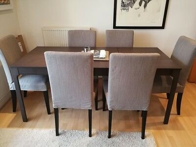 8c5824f961 IKEA EKEDALEN DINING table + 6 X Henriksdal Dining Chairs - £62.00 ...
