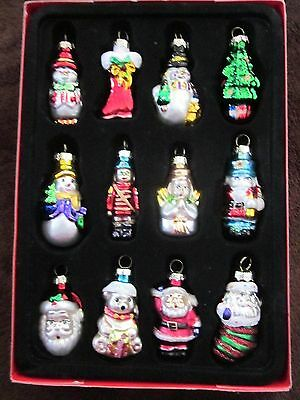Avon Set of 12 Holiday Glass Christmas Ornaments New in Box