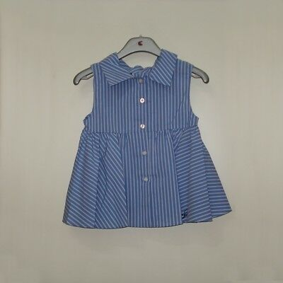 Camicia smanicata a righe Twinset Linea Junior Bimba Simona Barbieri Nuova co...