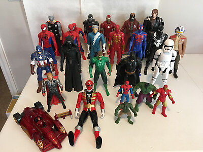 "Large Lot of Action Figures - 12"" Marvel Titan DC Comics Power Ranger #1693"