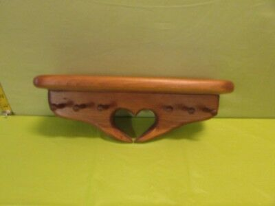 Small Vintage Wooden Key Chain Holder