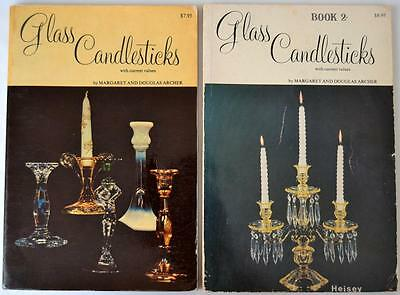 Glass Candlesticks Books 1 & 2 With Price Guide By Margaret & Douglas Archer