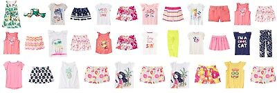 NEW Gymboree girls summer outfits sets dress sunhat tee shorts skort 4 5 6 7 8