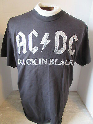 2011 AC/DC Back in Black T-Shirt Size Large