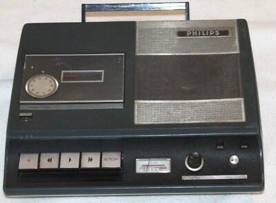 ANTIKER PHILIPS MONO CASSETTENRECORDER TISCHVERSION von 1970