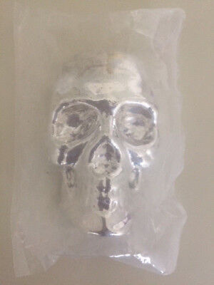 10 oz 999 Fine Silver Bar - Yeager's Poured Silver - YPS -Skull