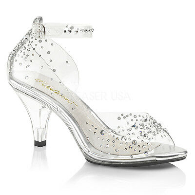 d6f66efd4fa CLEAR CINDERELLA SHOES Disney Princess Wedding Glass Slippers Heels Womans  size