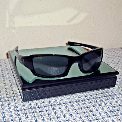 New Oakley Fives Squared OO9238-04 Polished Black/Gray Rectangle Sunglasses