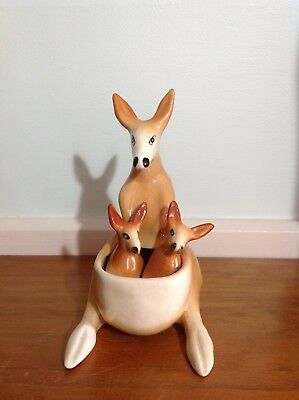 Vintage Kangaroo Mother and Baby Joey Salt and Pepper Set