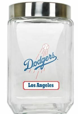 Los Angeles Dodgers Jar Glass Canister Large Container With Lid Duckhouse MLB