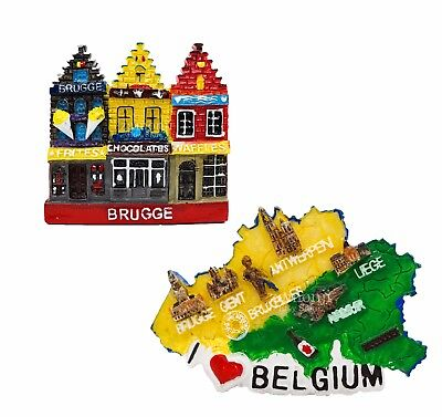 3D Resin Fridge Magnet Craft Tourist Travel Souvenir Memorabilia - BRUGGE