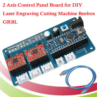 2 Axis Stepper Motor Control Board Driver For DIY Laser Engraver Benbox GRBL UK