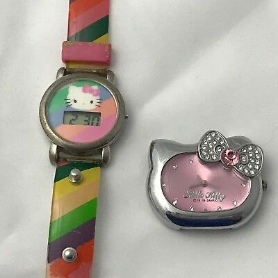 84547f4f9 Sanrio Hello Kitty Rainbow Plastic Digital Watch & Head Watch New Batteries  Work