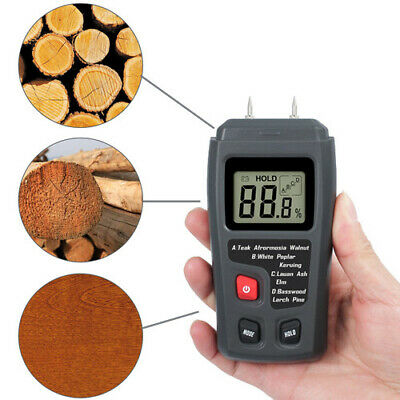 Digital LCD Wood  Moisture Meter Handheld 0-99.9% Humidity Electrode Detector US