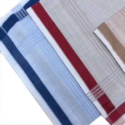 Men's 100% Pure Cotton Handkerchiefs 38CM X 38CM Birthday Gift Bulk Brown 1