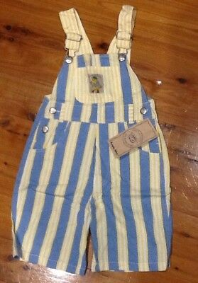 Pumpkin Patch Toddler Stripe Overalls - Size 3 - NEW
