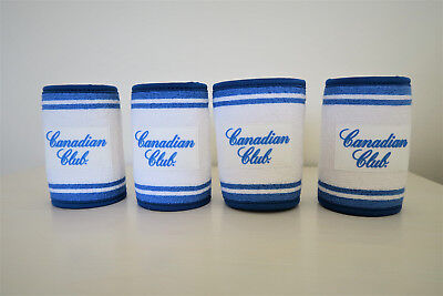 Canadian Club Sweatband Can / Stubbie Holder Set of 4 – Collectable Gift Item